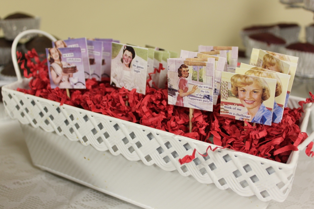 retro housewife themed bridal shower amandita designs