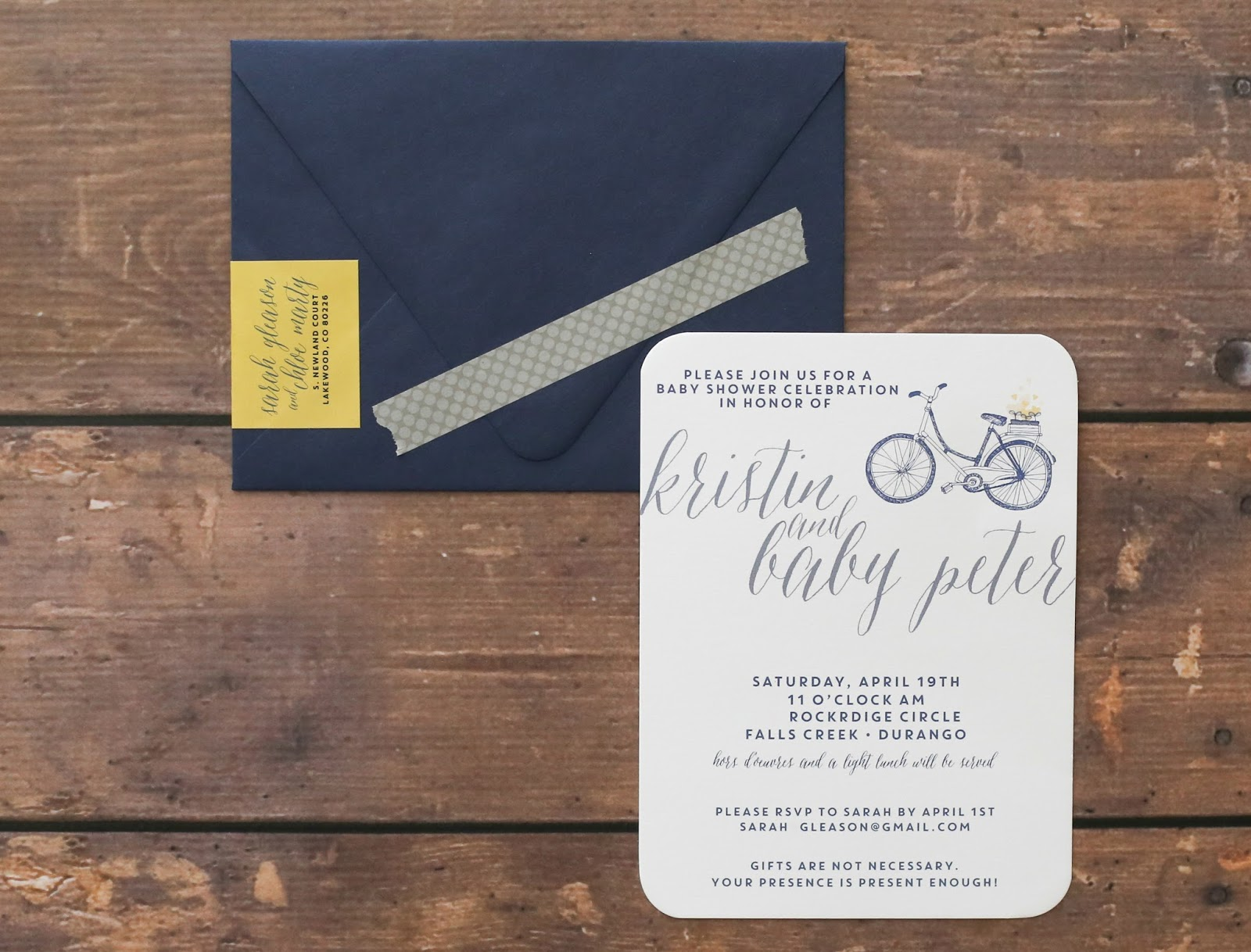 Chloe custom design bicycle baby shower invitations i am so excited to be going to durango we havent been since january and i am hoping for some lovely spring weather we will certainly catch up with lots filmwisefo