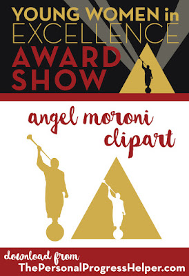 Young Women in Excellence Award Show Angel Moroni Clipart!