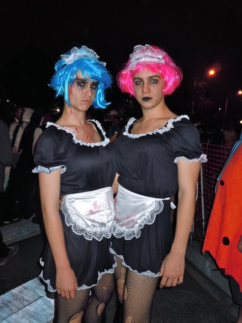 West Hollywood Halloween creepy maids