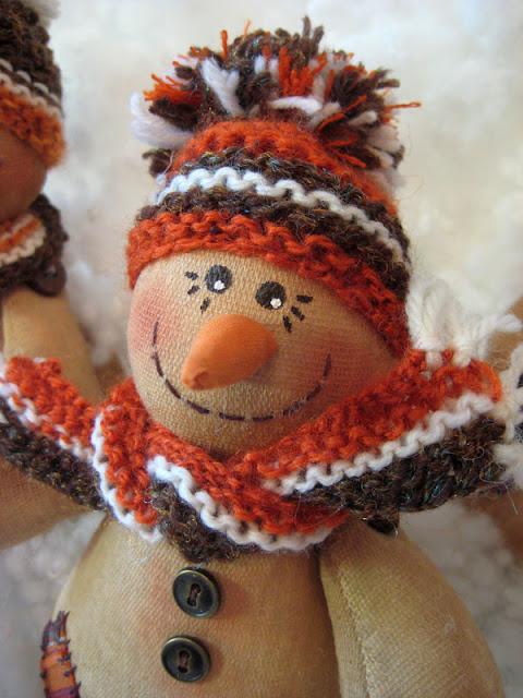 мастер-класс кофейный снеговик