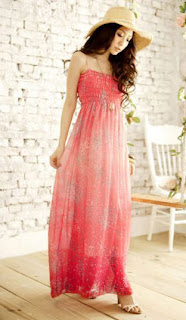 Long Smocked Tube Dress
