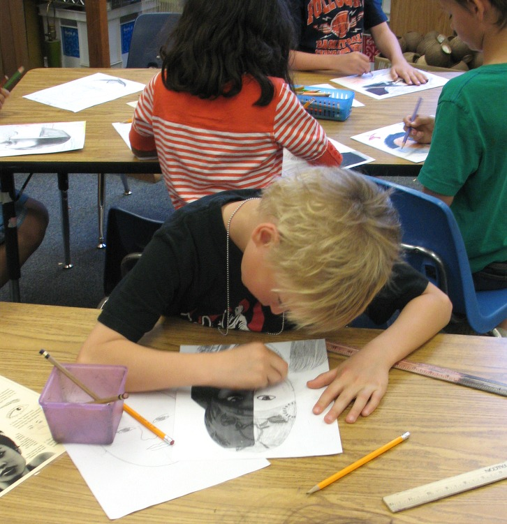 Welcome To Ms Wagner S Elementary Art Studio: The David Lubin Art Studio: Half Faces