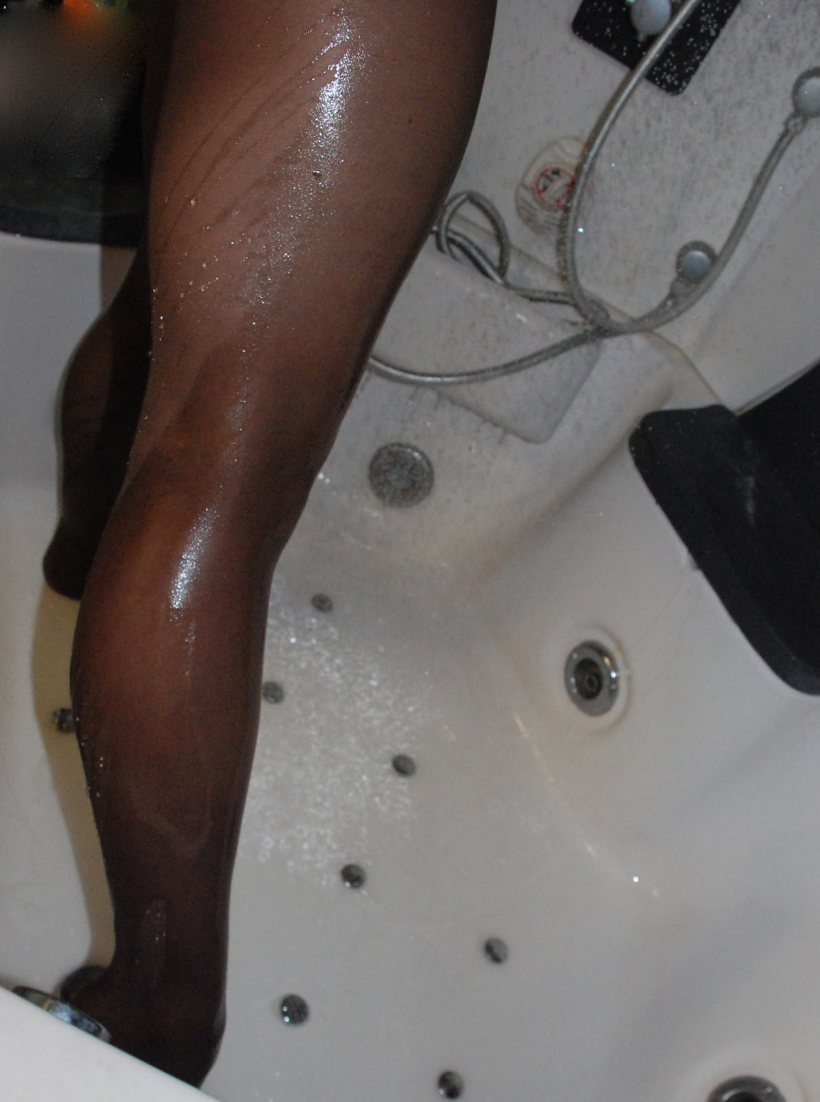 Pantyhose in the shower
