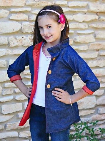 Seamingly Smitten Girls Jacket Sewing Pattern Pdf Sewing