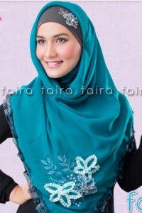 Faira Jilbab BA 382 - Toska Tua (Toko Jilbab dan Busana Muslimah Terbaru)