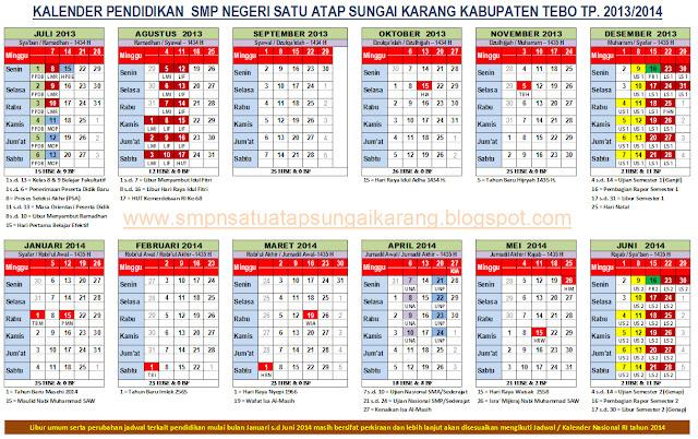 Kalender Pendidikan Tahun 2014 2015