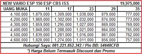 NEW VARIO ESP 150 ESP CBS ISS