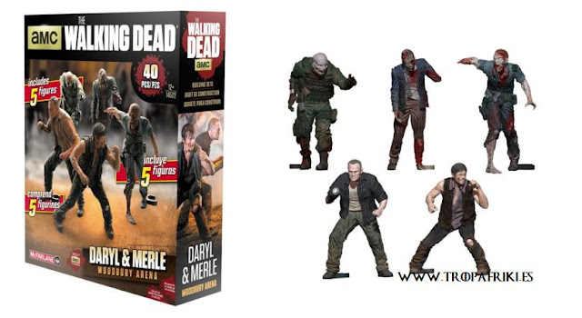 Maqueta The Walking Dead: Daryl y Merle y zombies