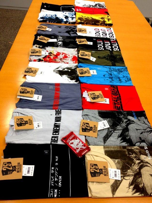 Konami lançará linha de camisetas em homenagem aos 25 anos da série Metal Gear - Nintendo Blast