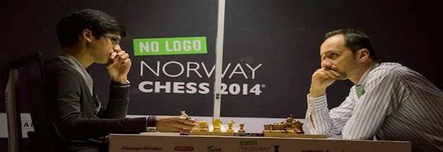 Giri y Topalov en el Norway Chess