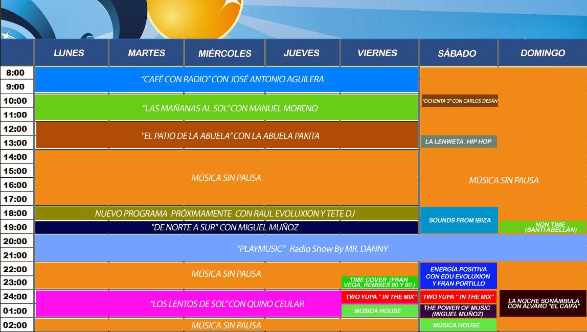 Si pinchas en el dibujo de abajo podrás ver la programación de SOL FM CÓRDOBA 94.4