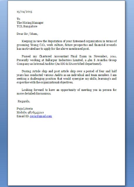 cover letter cv