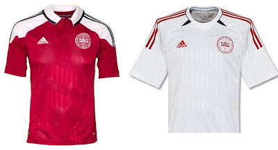 Denmark Home+Away Euro 2012 Kits (Adidas)