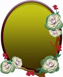 葉牡丹を使ったプレート状の無料イラスト