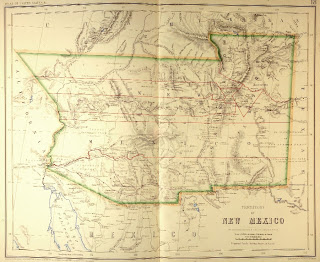 New Mexico Territorial Map