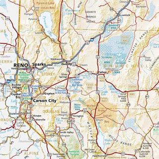 Road Map of Reno