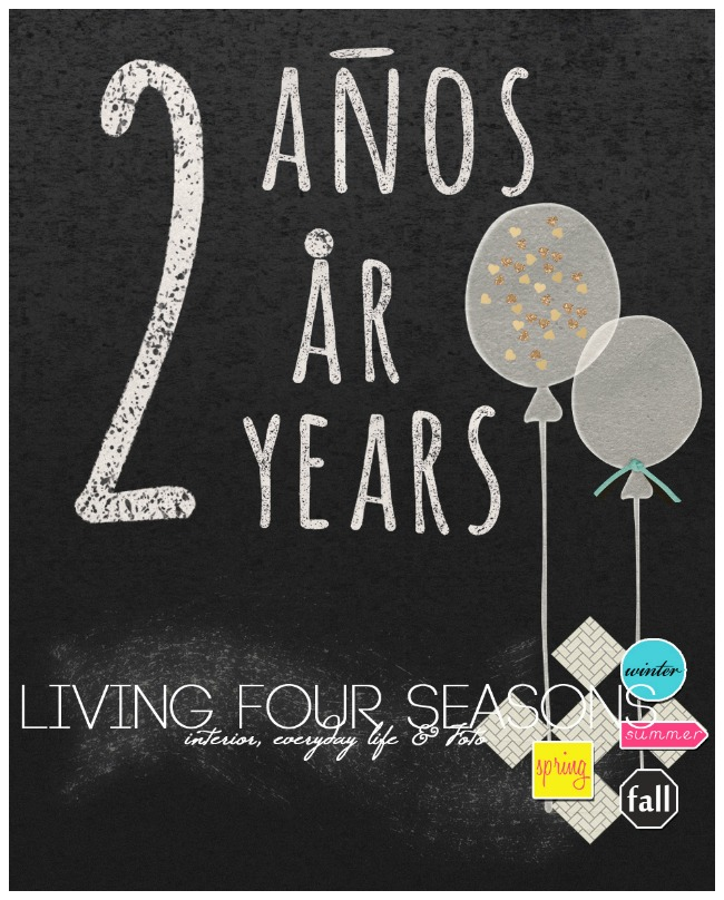 Living Four Seasons 2 Years Giveaway Party