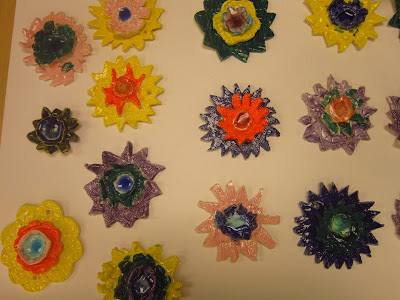 Clay Flowers, 2nd Grade Art projet, clay art projects