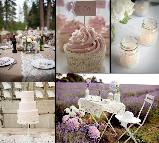 Detalles con encaje para decorar tu boda