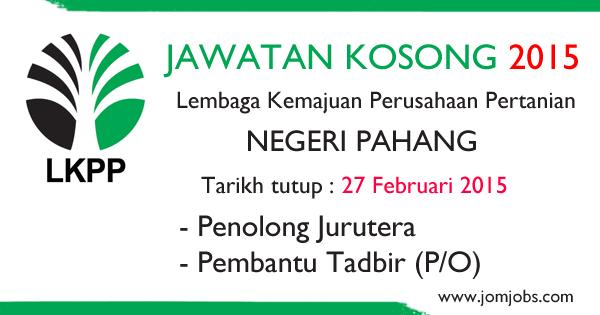 Jawatan Kosong LKPP Negeri Pahang Terkini