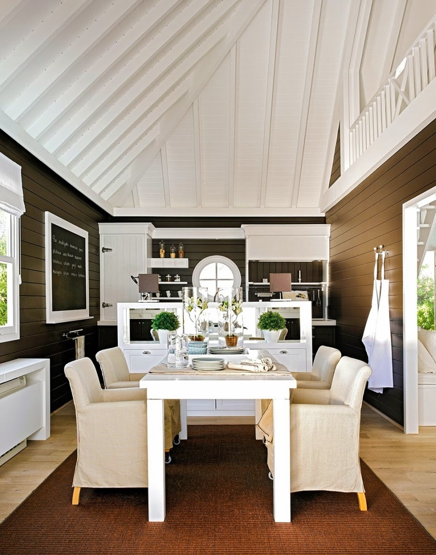 wystrój wnętrz, wnętrza, dom, home decor, aranżacje, białe wnętrza, willa, kuchnia, jadalnia