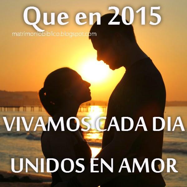 Tarjeta de Matrimonio QUE EN 2015 VIVAMOS CADA DIA UNIDOS EN AMOR