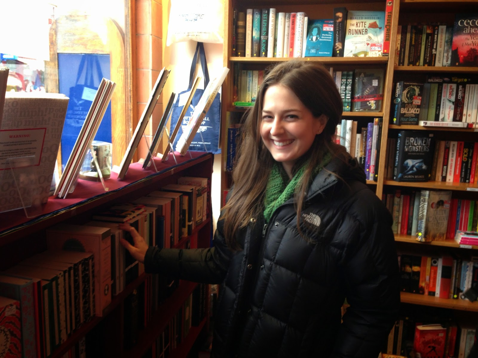 Writer Julie Pennell at Notting Hill Book Shop in London