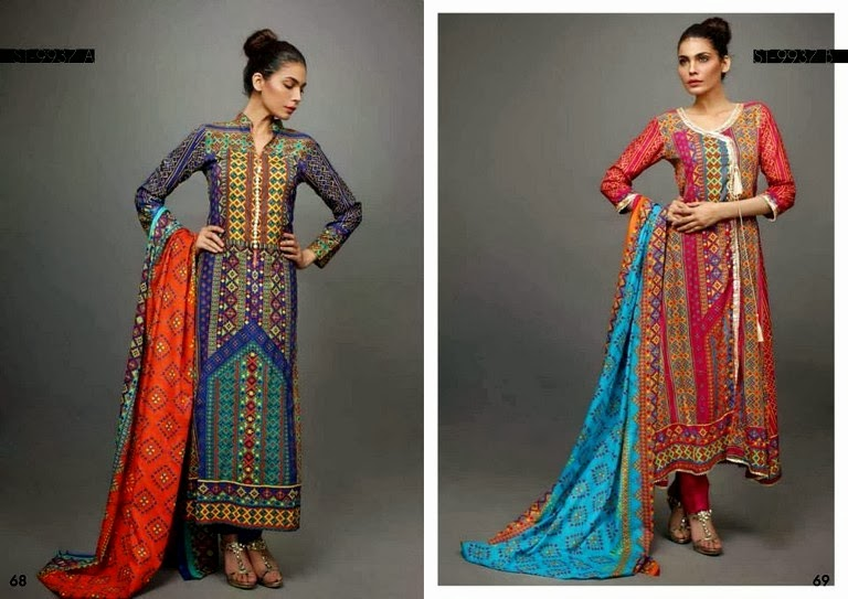 Balochi Printed Lawn and Angerkha