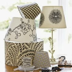 Designing home: fabric covered lampshades DIY