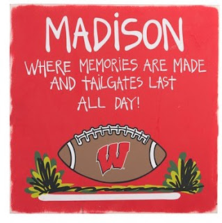 Wisconsin Badgers NCAA Tailgate Sign