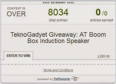 AT Boom Box Induction Speaker Giveaway Winner