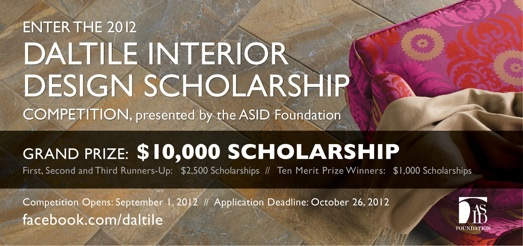 Daltile Interior Design Scholarship Competition