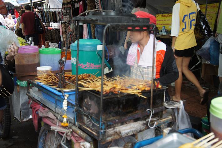 Satay seller in Bangkok, Thailand