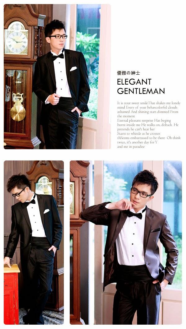 經典紳士配件組-黑色經典襯衫配件組