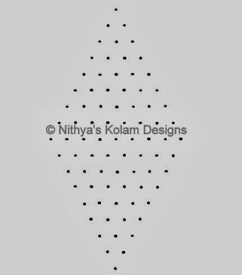 1 Kolam 95: Easy Diwali Kolam