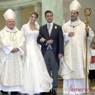 Foto de la boda de Angelica Rivera y Enrique Peña