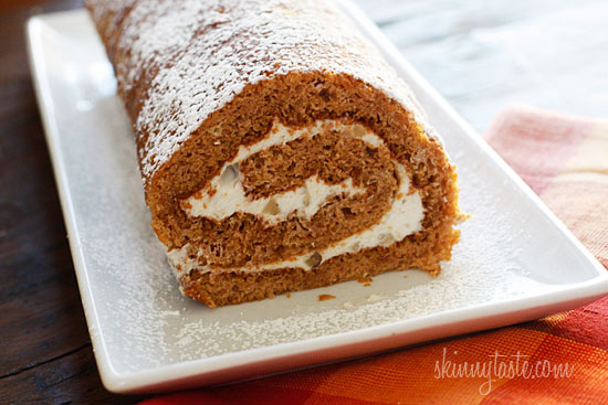 Pumpkin Roll, Lightened Up | Skinnytaste