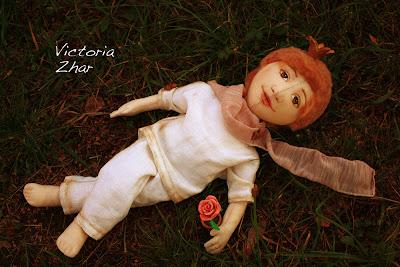 Victoria Zhar Виктория Жар маленький принц роза текстильная кукла
