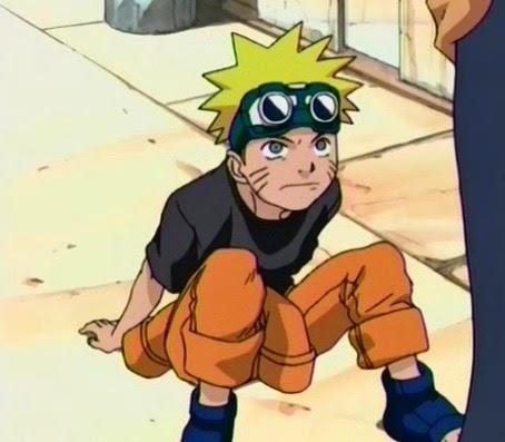 Gambar Naruto saat masih anak-anak, sebelum menjadi shinobi
