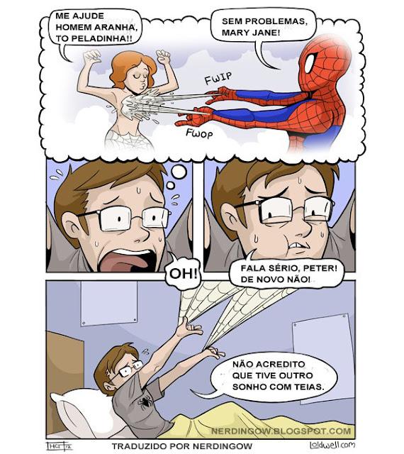 [tirinha] Peter Parker tem sérios problemas...