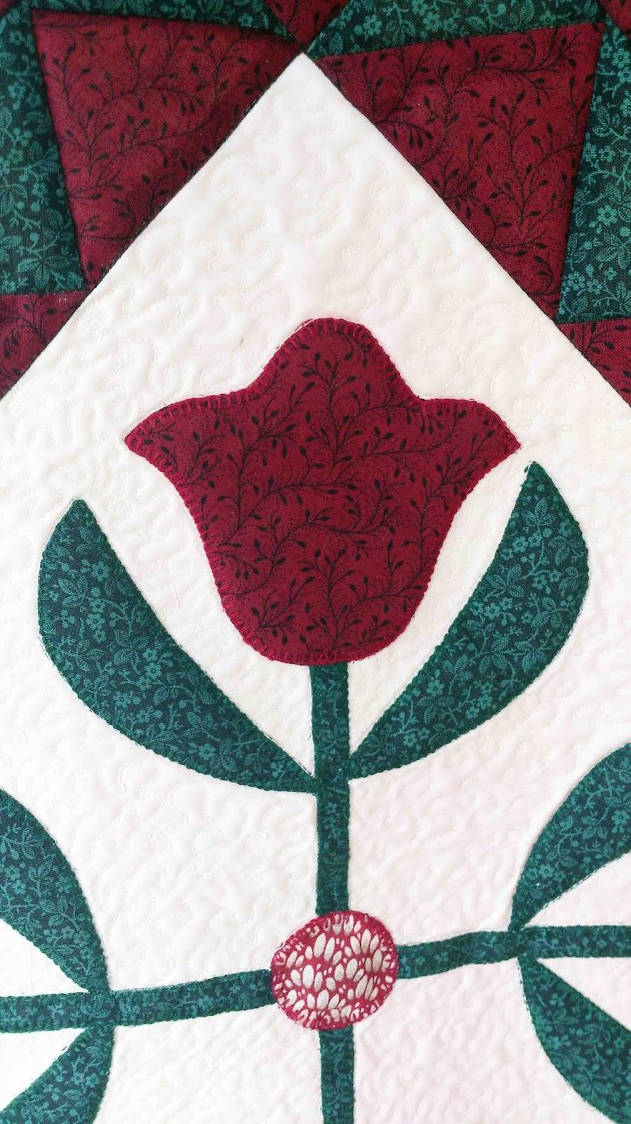 applique tulips