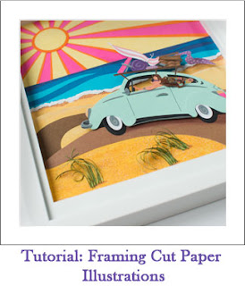 Tickled by the Creative Bug - Tutorial: Framing Cut Paper Illustrations: Link to blog post