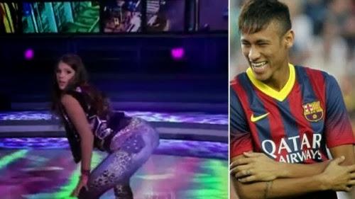 Novia De Neymar Baila Erótico