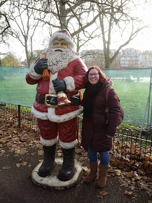 Rachel Birchley with Father Christmas at Winter Wonderland
