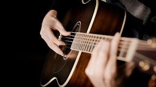 Man Hands On Guitar Music HD Wallpaper