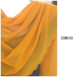 shawl halfmoon plain mustard