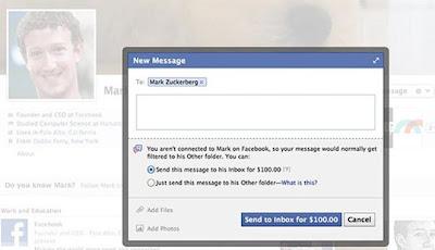 Kirim Pesan Langsung ke Zuckerberg, Bayar US$100