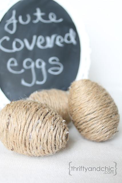 Jute Easter Eggs