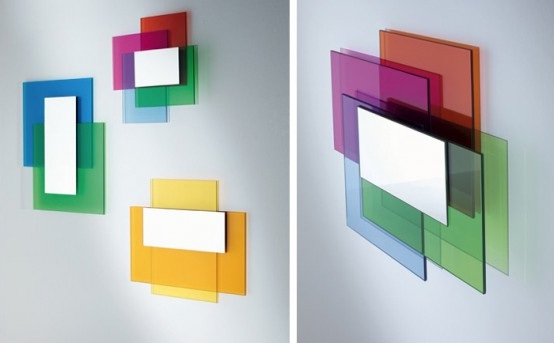 Decora y disena espejos modernos de colores en vidrio - Espejos de diseno moderno ...